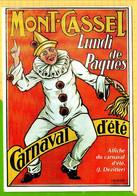 MONT De CASSEL Lundi De Paques Carnaval D'Eté Carte De L' Affiche Du Carnaval (J.Dezitter) - Cassel