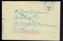 Lsc Censurée En Feldpost 15 1 43 ( Militaire Belge En Allemagne ?? ) - Lettere