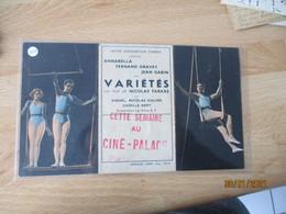 Pathe Consotium Cinema Jean Gabin  Dans Varietes De Nicolas Farkas Cine Palace  Programme Cirque - Programs