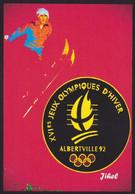 CPM Albertville Jeux Olympiques Tirage Limité Numéroté Et Signé En 30 Exemplaires Ski - Olympische Spiele