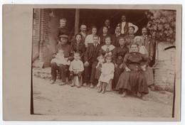 CARTE PHOTO ECRITE DE RAVIERES (89) EN 1930 : LE BAPTEME DE LOUISE BONNET ? - PHOTO DE FAMILLE ET AMIS -z 2 SCANS Z- - Other Municipalities