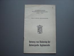 ANTWERPEN - Exposition Liège 1939 - Riolering - Deurne - Borgerhut - Mersem - Berchem - Wilrijk - Hoboken - Antwerpen