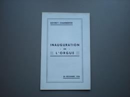 GEVREY-CHAMBERTIN - Orgue - Inauguration - 1936 - Musique - Programas