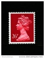 GREAT BRITAIN - 1987  MACHIN  26p.  RED  Type II   MINT NH  SG  X971b - Machins