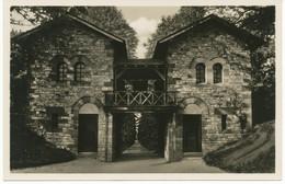 "SAALBURG Im Taunus, 1934 S/w RP AK ""Römerkastell – Porta Pretoria"", Rs. Selt. Werbestempel ""BAD NAUHEIM / DAS HERZ-HEILB - Storia Postale"