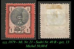 1879 - Mi. Nr. 31 - Sadri Nr. 40 B - Gez. 13 - Irán