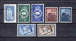 Naciones Unidas .- New York    1952-53  .-   12-13/14-15/16-17/18 - Gebraucht