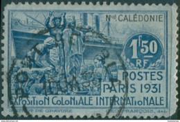 New Caledonia 1931 SG182 1f.50 Blue And Black Colonial Exhibition FU - Usati
