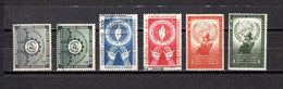 Naciones Unidas .- New York    1953-54  .-   19/20-21/22-29/30 - Gebraucht