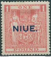 Niue 1931 SG54 ?1 Pink Arms MLH - Niue