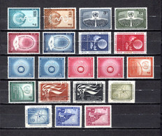Naciones Unidas .- New York    1956-58  .-   42/43-44/45-46/47-48/49-50/51-50A/51A-52/53-54/55-56/57-58/59 - Gebraucht