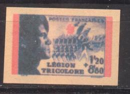 Légion Tricolore, Non émis YT 566C De 1942 Sans Gomme - Imperforates