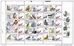 "Vel Met 15 Zegels A. Buzin ""Tentoonstelling 25 Jaar Vogels - 20 Jaar S.P.A.B."" - 1985-.. Oiseaux (Buzin)"