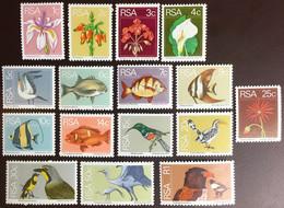 South Africa 1974 Flora & Fauna Definitives Set Flowers Birds Fish MNH - Ohne Zuordnung
