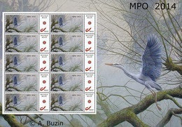 """Vel Met 10 Gegomde Zegels """"Blauwe Reiger 2014"""" - 1985-.. Birds (Buzin)"""