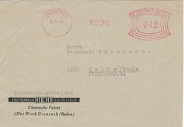 Francotyp A - Grenzach 1941 Hoffmann-la-Roche Berlin Werk Grenzach - Briefstück - Apotheek