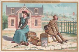 "Chromo ""Liebig"" Train -Gare -Voyageurs / Les Plaisirs De L'attente - Liebig"