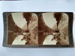 PHOTO STÉRÉO NORVÈGE - Gudvangen's Outlook ... -  Underwood  - TBE - Stereoscopio