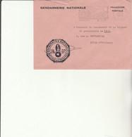 Z1 - Enveloppe   Gendarmerie CHAOURCE  -    En Franchise - - Bolli Militari A Partire Dal 1940 (fuori Dal Periodo Di Guerra)