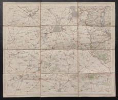 Carte Topographique Toilée Militaire STAFKAART 1912 Tournai Roubaix Lille Armentieres Lens Douai - Topographical Maps