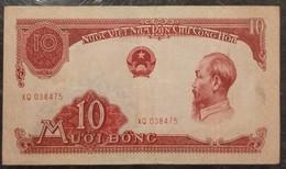 North Vietnam Viet Nam 10 Dong VF Banknote Note / Billet 1958 -P#74 / 02 Photo - Vietnam