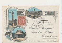 ROMA UN SALUTO DA ROMA MULTI VUES CPA 1896 BON ETAT - Panoramische Zichten, Meerdere Zichten