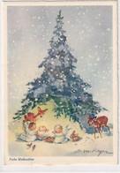 Frohe Weihnachten - Signiert - Werbeflaggenstempel         (P-294-01007) - Other Illustrators