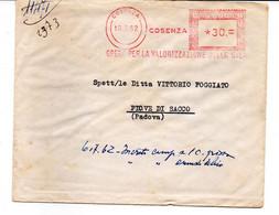 1962 EMA Affrancatura Meccanica Rossa Freistempel Cosenza Opera Per La Valorizzazione Della Sila - Marcofilia - EMA ( Maquina De Huellas A Franquear)