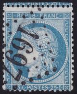 N°60A Oblitéré GC 1697 De Le Grand Luce (71), Indice 5, Frappe Parfaite, TB - 1871-1875 Ceres