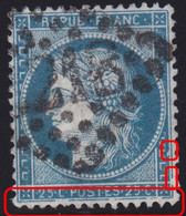 N°60A Variété Suarnet 20, Position 126A2 4è état, Nombreuses Cassures, TB - 1871-1875 Ceres