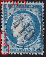 N°60A Variété Suarnet 49, Position 110D3 3ème état, GC 410 De Beauzée (53) Indice 7, TB - 1871-1875 Ceres