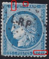 N°60B Issu De La Planche 7 (planche Au Type III) Position 132B7, Oblitéré Ambulant L.RP, Pas Courant Et Position Très Ra - 1871-1875 Ceres