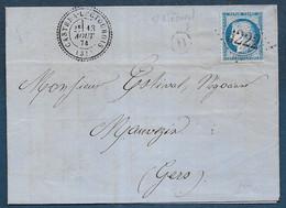 Gers - G.C.  6222 Et Cachet Type 24  CASTERA LECTOUROIS + D De St Mézard - 1849-1876: Klassik