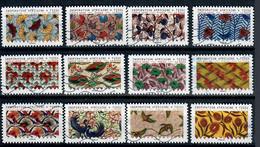 YT AA 1657  A 1668 Série Complète Tissus - Luchtpost