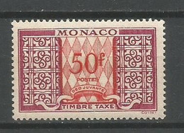 Timbre Monaco Neuf ** Taxe   N 38 A - Segnatasse