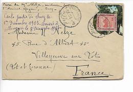 SUEZ Egypte Guerre 14 18 Cad PORT TAOFIQ (envoi Médecin Sur L'Amiral Magon ) Marine Militaire 1.12.1915    ..G - 1915-1921 Protectorado Británico
