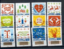 YT AA 1641 A 1652  Série Complete Timbres De Voeux - Luchtpost