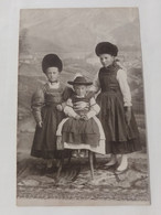 Carte Photo Enfants En Costume Traditionnel Fotokarte Kinder In Traditioneller Tracht ALLEMAGNE - Zonder Classificatie