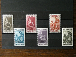 Sarre N° 125 à 130  Neufs Sans  Charnière Cote 220 € - Unused Stamps