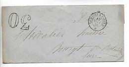 Ferroviaire Sur Pli Ambulant Jour LE HAVRE à PARIS 2° Brigade F + Taxe Tampon 30 Pour BOURTH 1858    ..G - Railway Post
