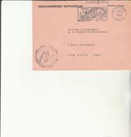 Z1 - Enveloppe   Gendarmerie  MIRECOURT    -    En Franchise - - Bolli Militari A Partire Dal 1940 (fuori Dal Periodo Di Guerra)