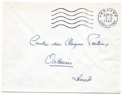 LOIR Et CHER - Dépt N° 41 = VENDOME 1962 = FLAMME SUPERBE Non Codée = SECAP Muette '5 Lignes Ondulées' FRANCHISE - Mechanische Stempels (reclame)