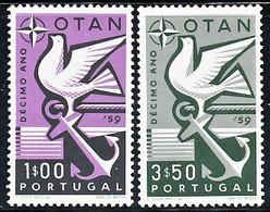 !■■■■■ds■■ Portugal 1960 AF#849-850 ** NATO Complete Set (SALE) - Sin Clasificación