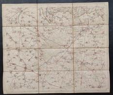 Carte Topographique Toilée Militaire STAFKAART 1908 Roisin Valenciennes Bavai Maubeuge Avesnes Le Quesnoy Athis Rouveroy - Topographical Maps