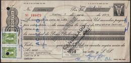 Bolivia 1975 Letra De Cambio $b20.-. EDVIL Edit. Offset. $b4.- Tipo H&A 126 La Papelera S.A. La Paz - Bolivia
