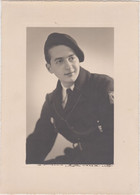 Photo Cartonné De Militaire  Avril 1942 - Guerra, Militares