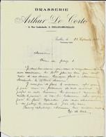 IXELLES - BRUXELLES   -  BRASSERIE Arthur De Corte 1915 - Food