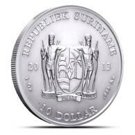 Suriname, 1 Oz 2013 Silver 999 Pure - 1 Oncia Argento Puro Bullion - Surinam 1975 - ...