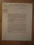 Eaux Et Forêts Arpentage Circulaire 1829 Délimitation Des Forêts Domaniales - Historische Dokumente