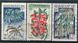MADAGASCAR  N°  332 A 334  (Y&T)  (Oblitéré) - Oblitérés